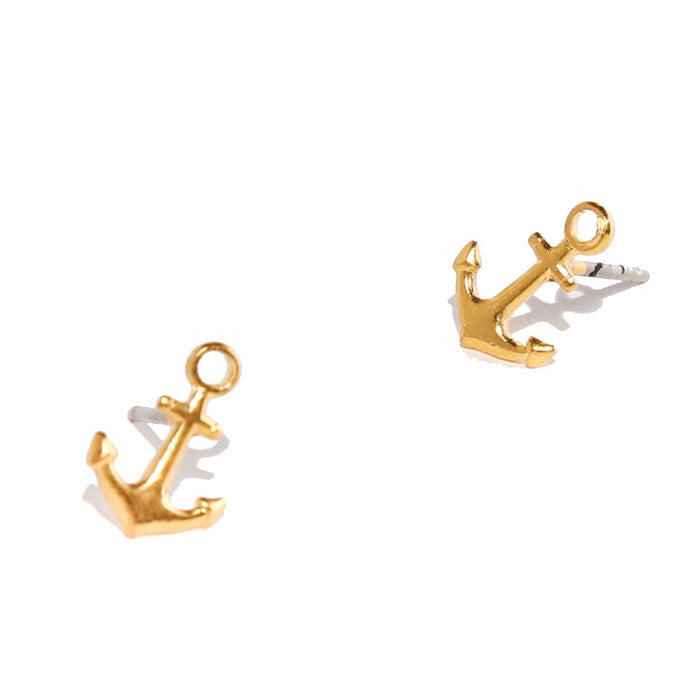 Tilly Doro - Anchor Stud Earrings