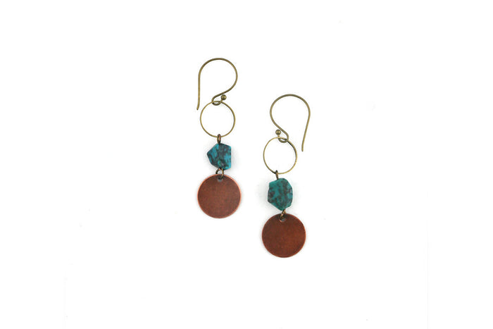 Isobell Designs – Bare Phases Earrings