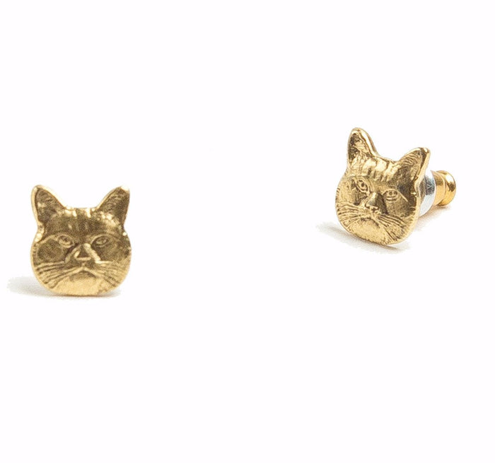 Tilly Doro - Cat Stud Earrings