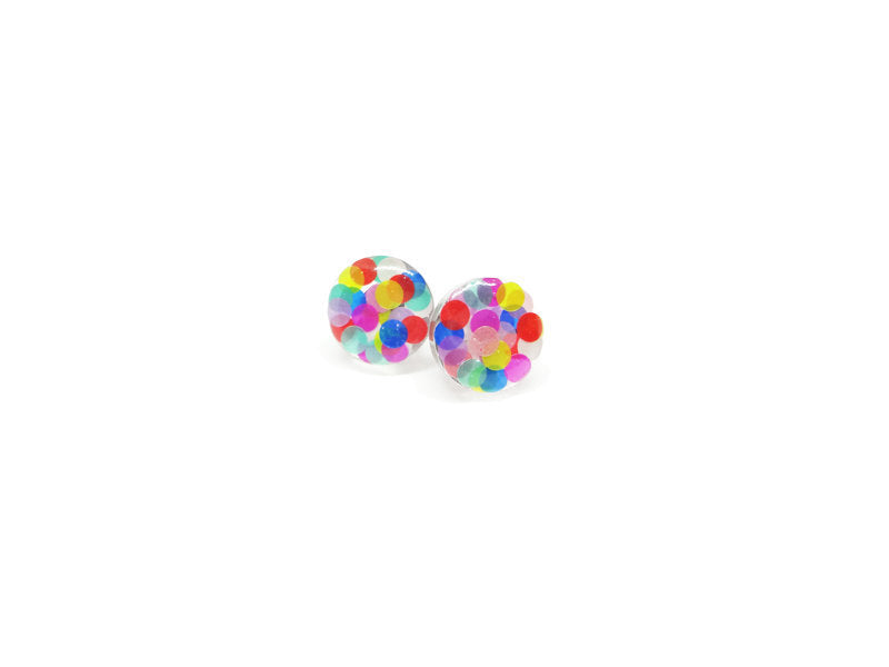 Fancy Pop - Large Glitter Circle Studs