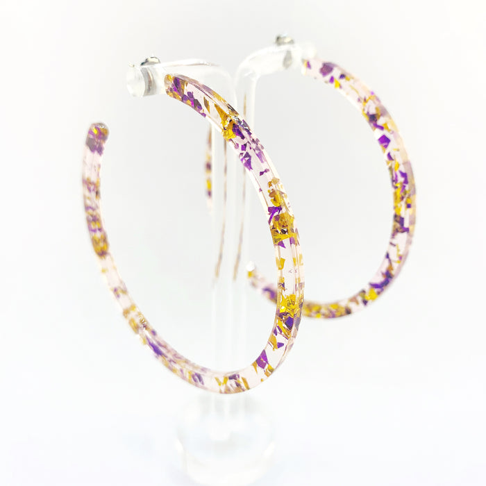 Acetate Hoops - Sparkle
