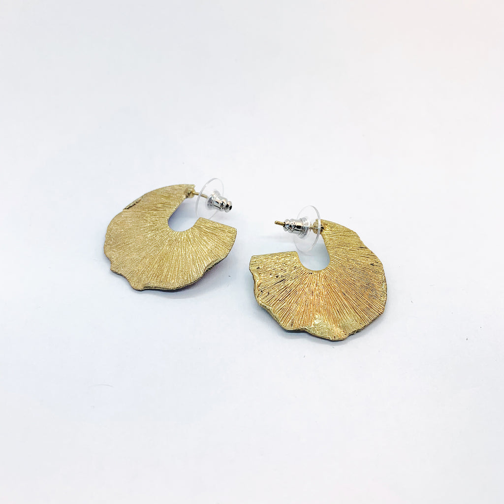 White Feather Designs - Reticulated Hoop Studs