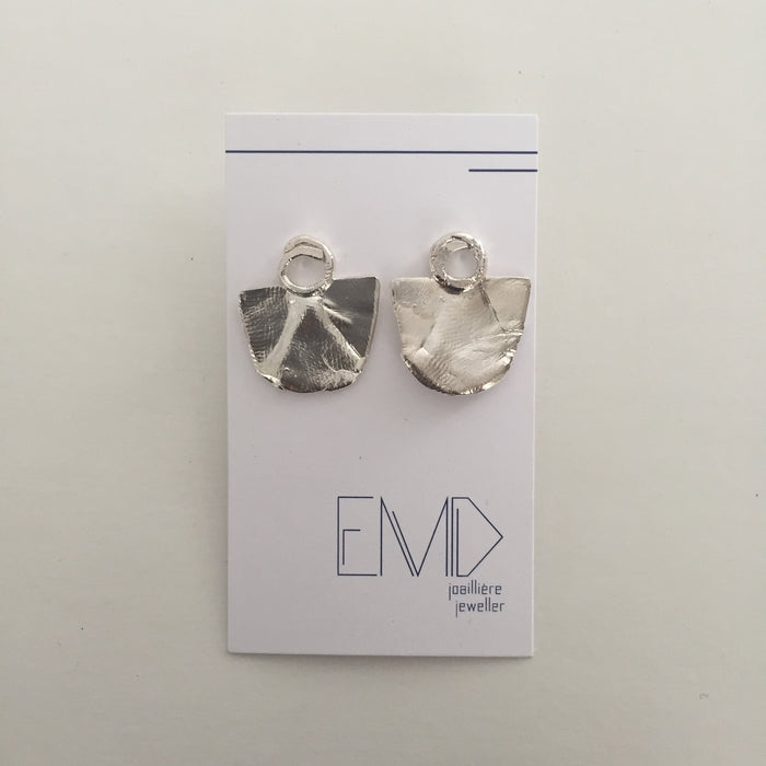 EMD - Silver Fan Earrings
