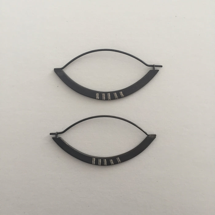 EMD - Eye Earrings - Oxidized Silver