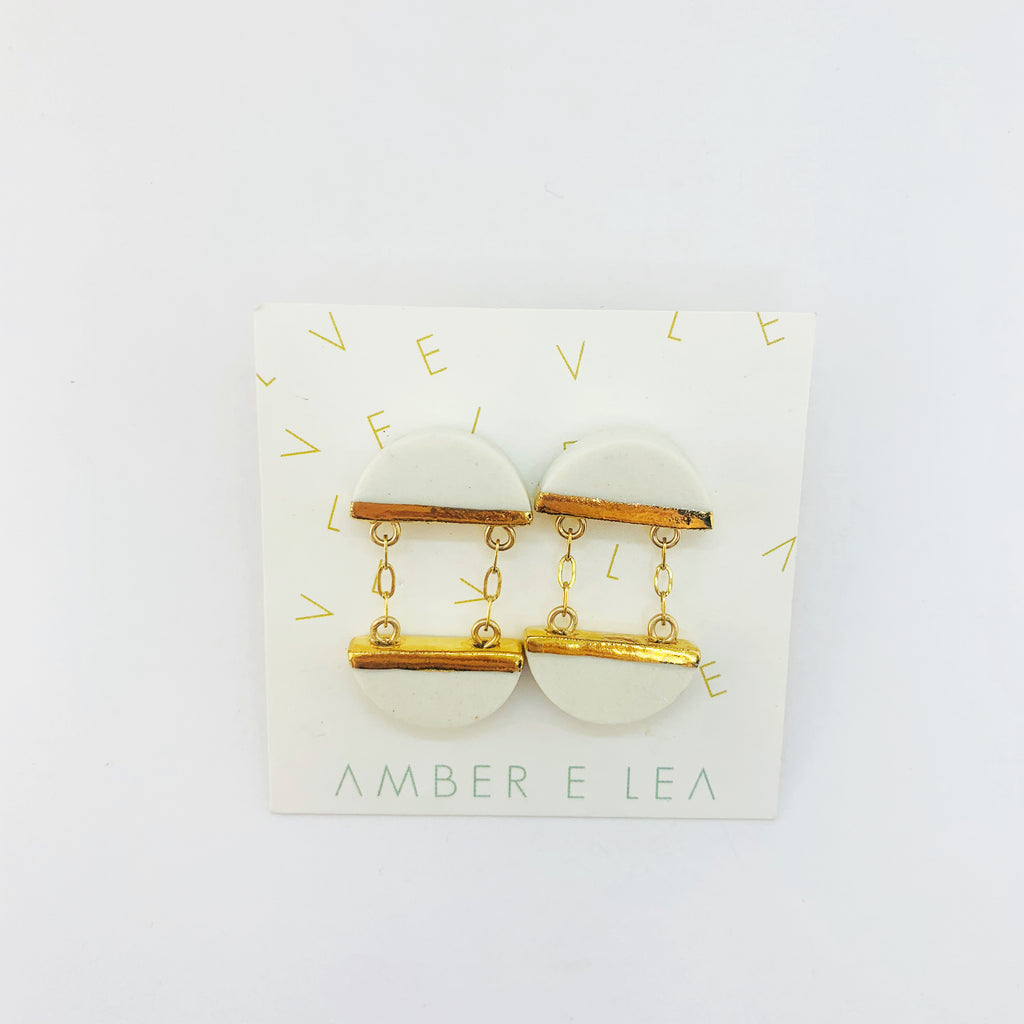 Amber E Lea - Split Stud Earrings