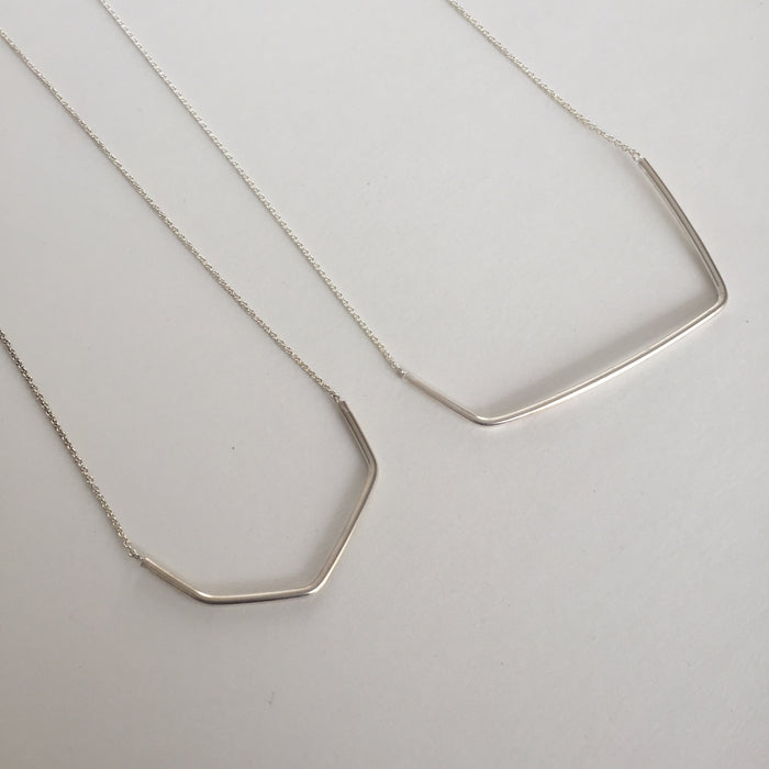 EMD - Geometric Silver Chain Necklace
