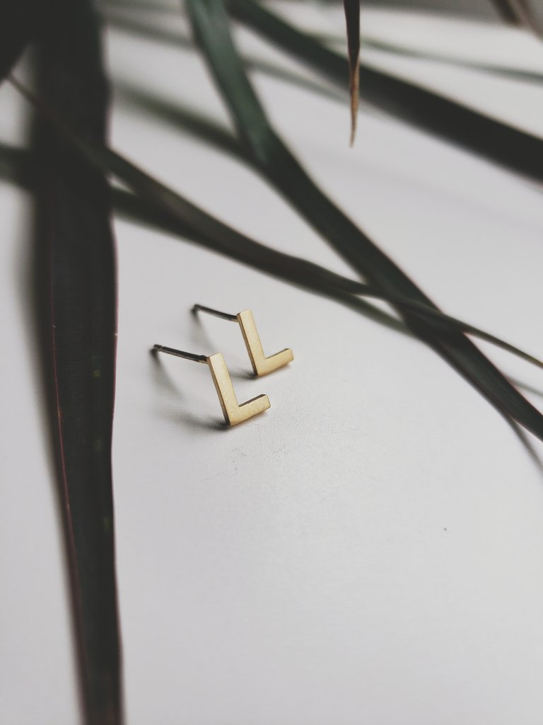 White Feather Designs - Initial Studs - Gold Plated