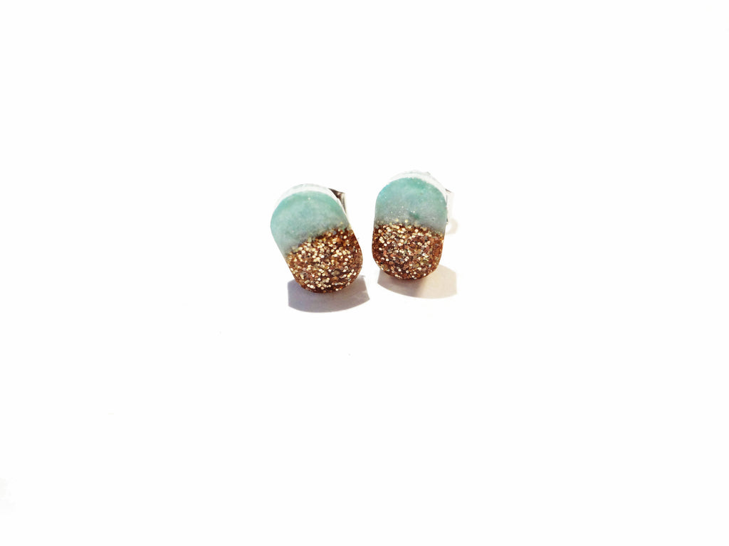 Fancy Pop - Glitter Pill Earrings