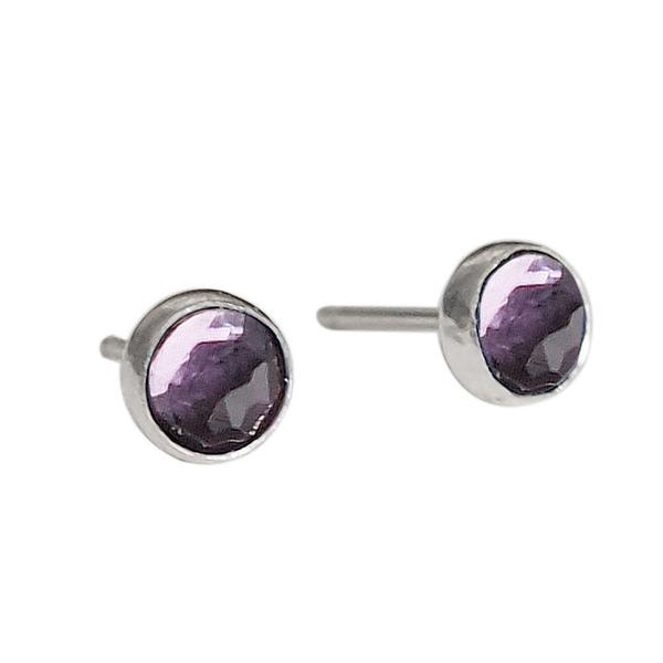 Strut Jewelry – Silver Stone Stud Earrings
