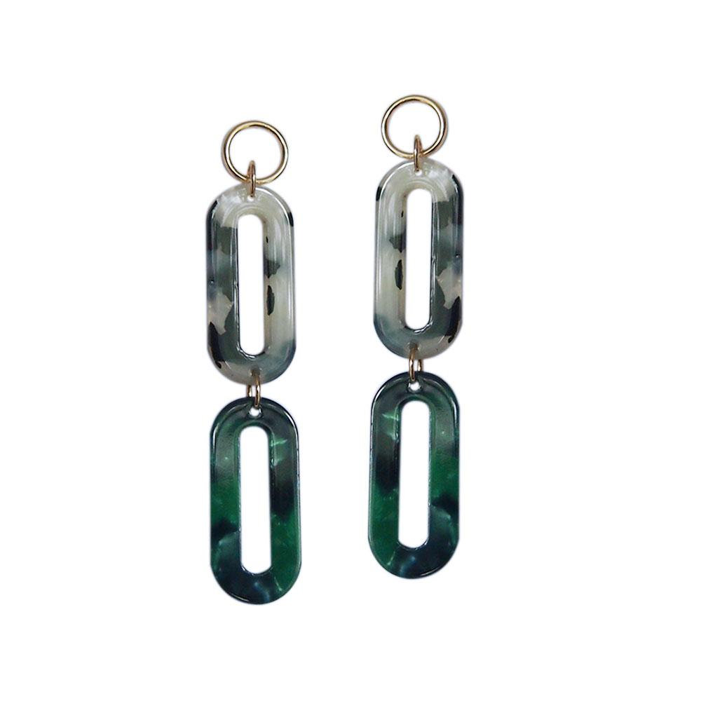 Strut – Lucite Double Oval Earrings