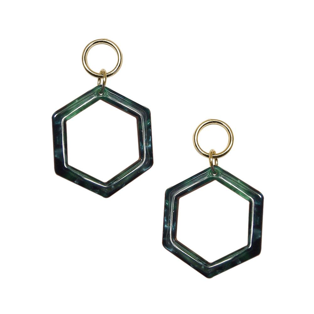 Strut – Lucite Hexagon Earrings