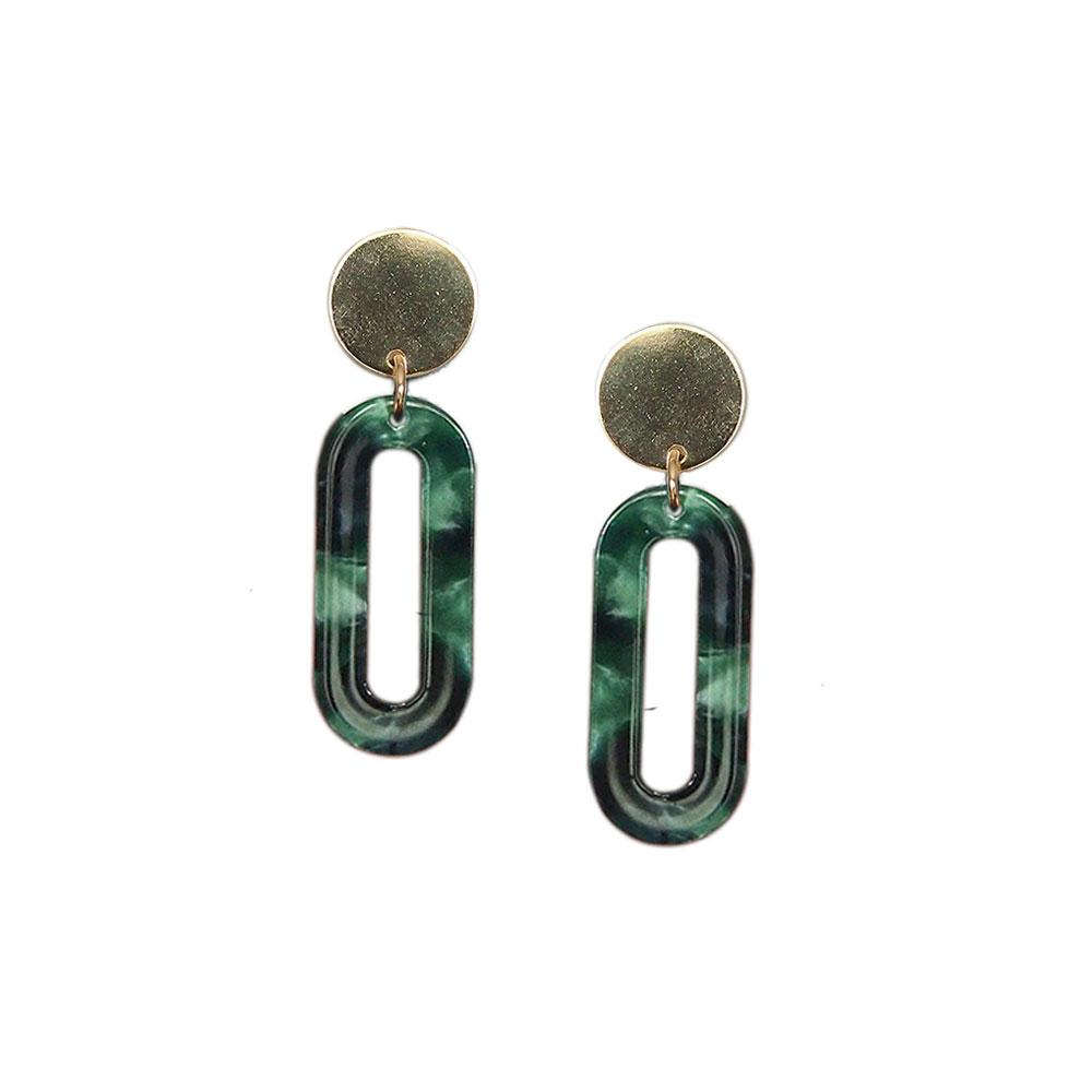 Strut – Lucite Longline Oval Earrings