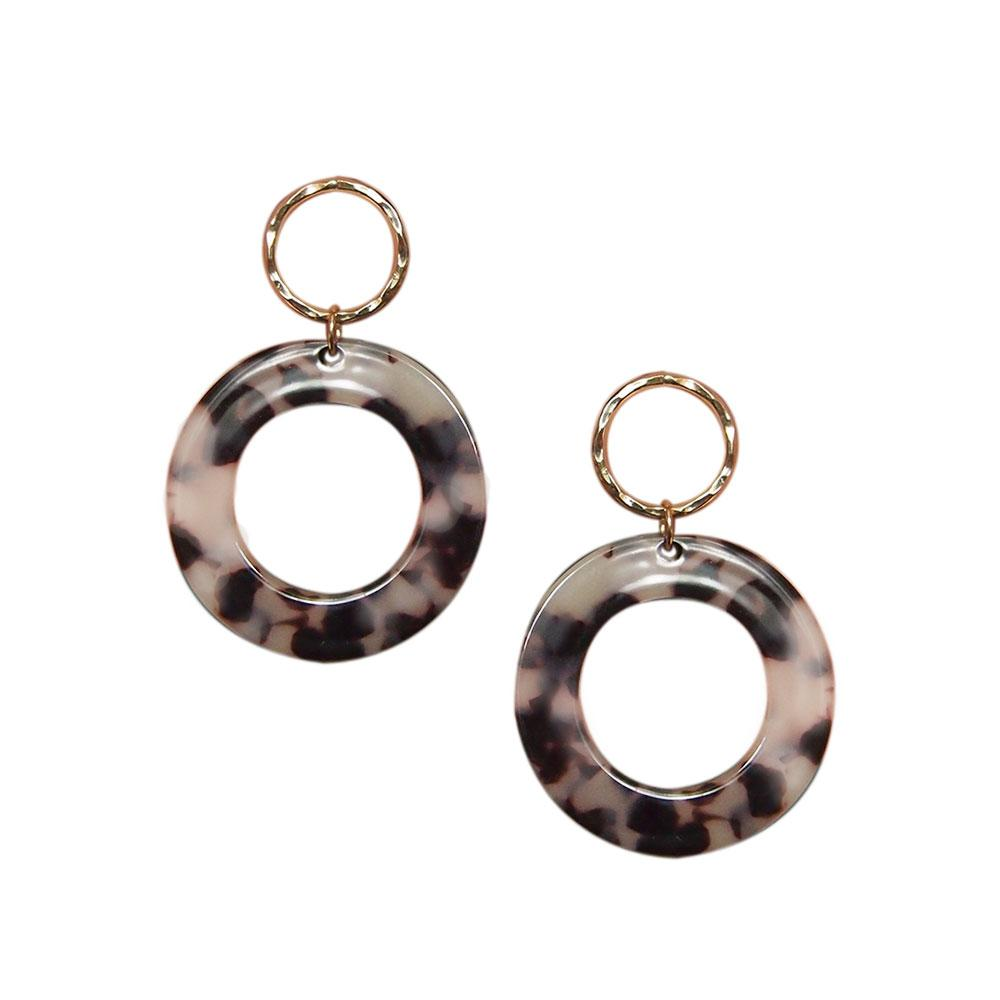 Strut – Lucite Large Circle Earrings