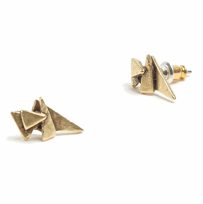 Tilly Doro - Triangle Stack Stud Earrings