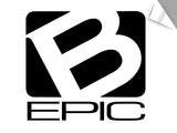 "Large B-Epic Logo Decal - Black (~11"" H x ~12 W)"
