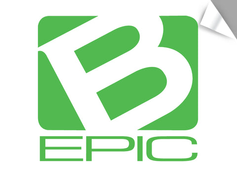 "Large B-Epic Logo Decal - Green (~11"" H x ~12 W)"
