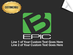 B-Epic Stacked Logo Decal - Customized