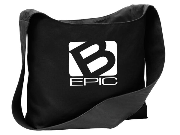 B-Epic Lifestyle Large Cotton Canvas Sling Bag (white logo)