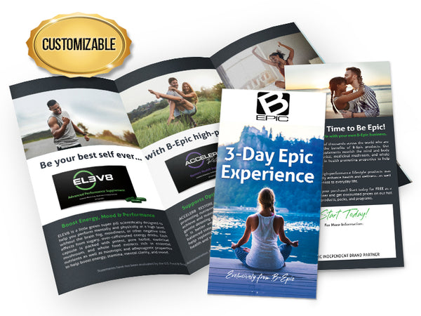 Epic Experience Brochures - Customized, Large Pack