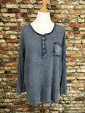 *Washed Knit Thermal Top