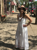 *Embroidered Maxi Dress