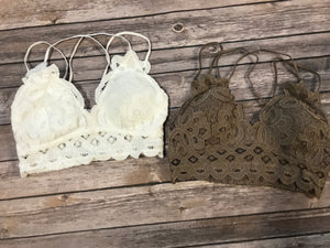 *Double Strap Scalloped Lace Bralette