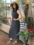 *Sleeveless Striped Maxi Dress