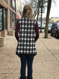 Brushed Buffalo Plaid Vest w/Pockets
