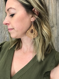 *Wooden Teardrop Earrings