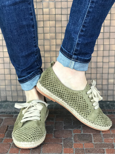 *Espedrille Perforated Sneakers