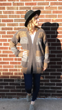 Ribbed Knit Striped Cardigan