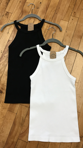 *High Neck Ribbed Tank