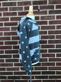 Kids French Terry Stripe Hoodie W/ Polka Dot