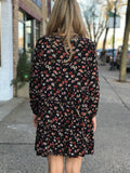 Long Sleeve Button Down Floral Dress