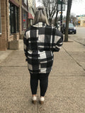 Plaid Mock Neck Tunic