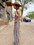 *Multi Color Striped Jumpsuit