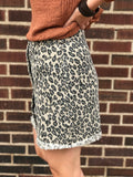 *Leopard Pocket Mini Skirt