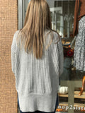 *Open Front Knit Cardigan