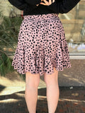 Dotted Print Flowy Skirt
