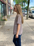 *Thermal Striped Pocket Top