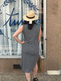 *Striped Midi Dress