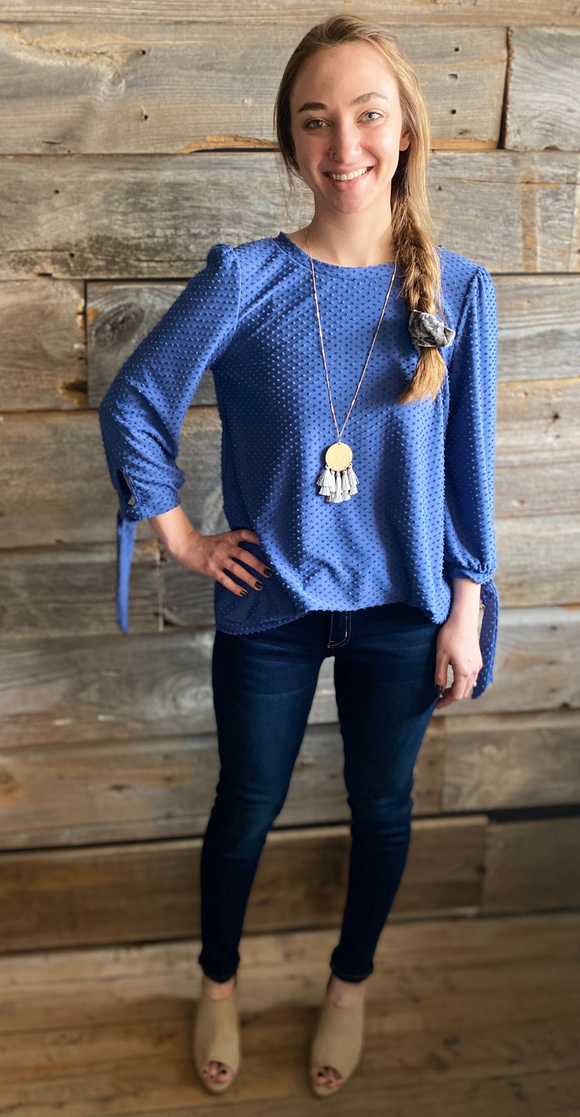 *Dotted 3/4 Sleeve Tunic