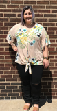 *Ruffle Sleeve V-Neck Floral Top
