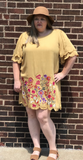 *Floral Embroidered Shift Dress