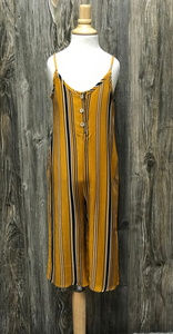*Kids Striped Woven Jumpsuit