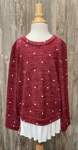 *Kids Long Sleeve Polka Dot Top
