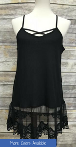 *Lace Extender Cami