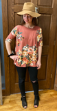 *Floral Print Short Sleeve Top