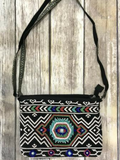 *Geo Print Beaded Crossbody