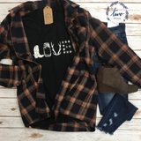 "*Rustic ""Love"" Graphic Tee"